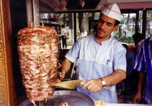 Doner kebab, rollo. Foto Flickr. Istanbul 1994