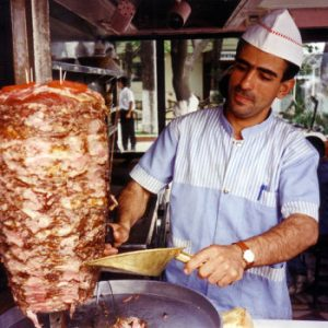 Pincho de carne de kebab